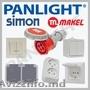 Prize si intrerupatoare Simon Electric in Moldova,  prize aplicate IP54,  prize